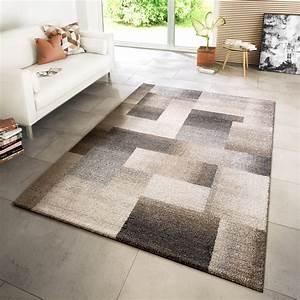 Teppich Wohnzimmer Modern : teppich modern wohnzimmer webteppich style modern karo meliert beige creme grau moderne teppiche ~ Sanjose-hotels-ca.com Haus und Dekorationen
