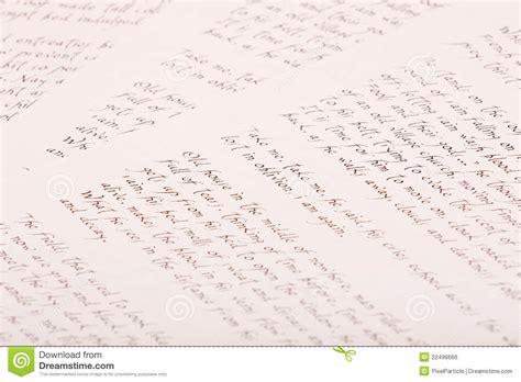 Old Handwritten Script Paper Royalty Free Stock Image