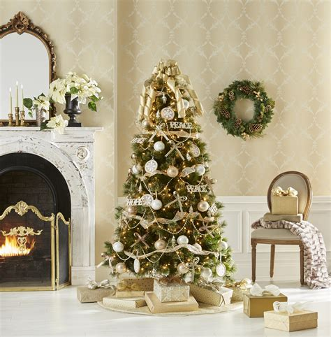 jaclyn smith glimmer  glisten complete tree decorating