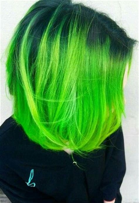 Green Hair Green Hair Colors Neon Green Hair Bright Hair