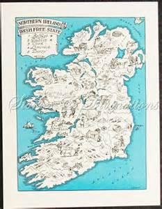 Vintage Ireland Map