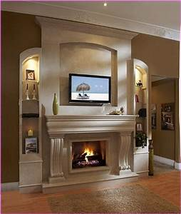 How, To, Decorate, A, Fireplace, Mantel, With, A, Tv, 5, Ideas, For, Unique, Look