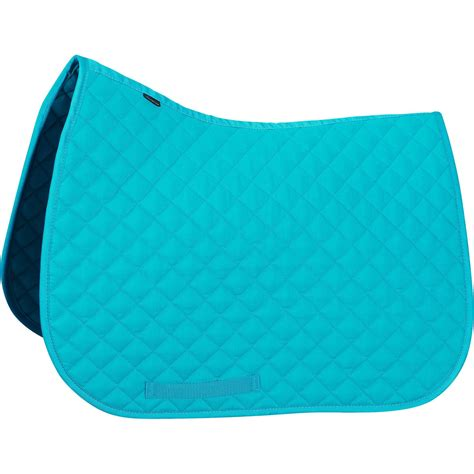 schooling saddle cloth for and pony turquoise fouganza