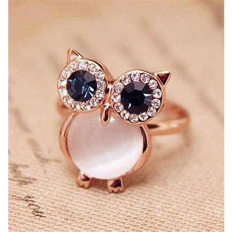 Cute Owl Opal Opening Animal Ring  Fashion Rings. Solid Gold Rings. Celeberties Engagement Rings. 18 Carat Rings. Woman Band Engagement Rings. Meredith College Rings. Amethist Engagement Rings. Septum Rings. Dream Rings