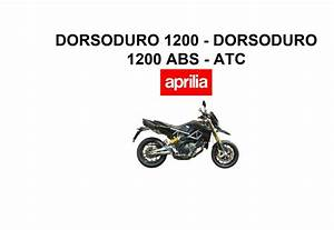 Aprilia Dorsoduro 1200 2010 Owner U2019s Manual