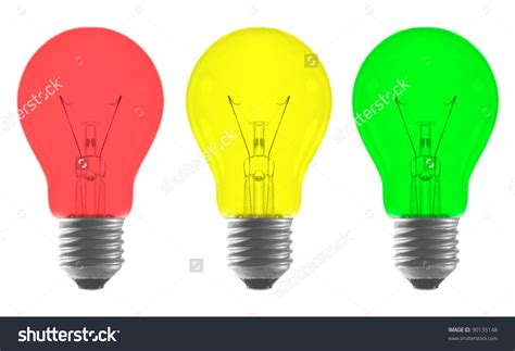 ideas yellow green color light bulb and colored light