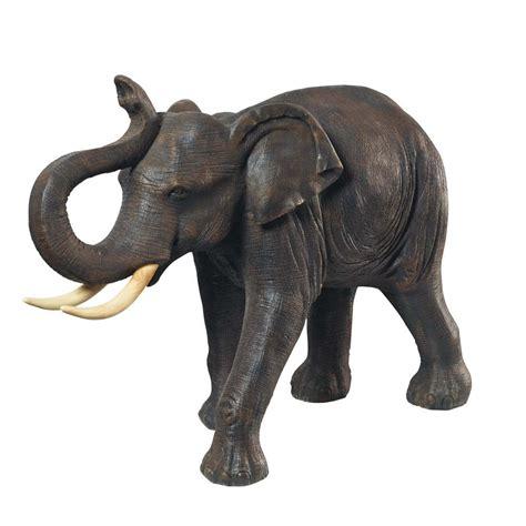 resin elephant statue in grey h 82cm maisons du monde