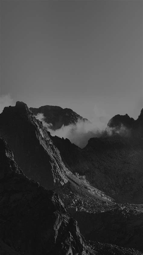 breath  mountains bw sky high nature android