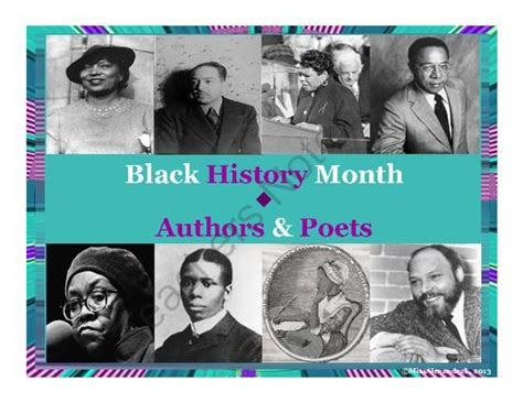 Black History Month Posters  Poets & Authors From
