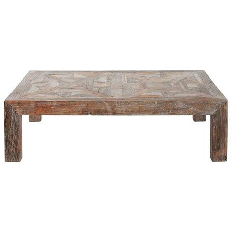 reclaimed elm coffee table horace rustic lodge reclaimed elm parquet coffee table 4528