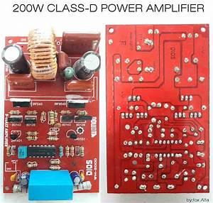 200w Class D Power Amplifier Irf540  Irf9540