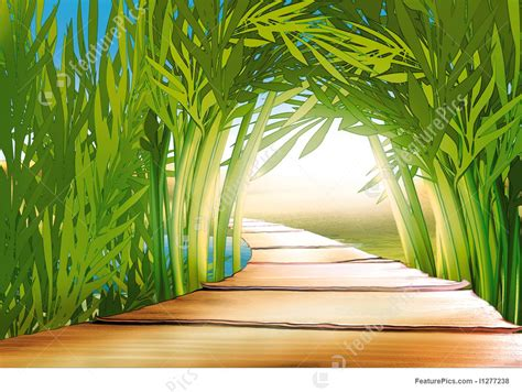 bamboo grove illustration