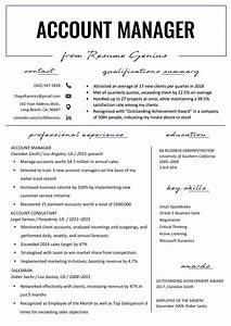 Job Resumes Samples Account Manager Resume Sample Writing Tips Resume Genius