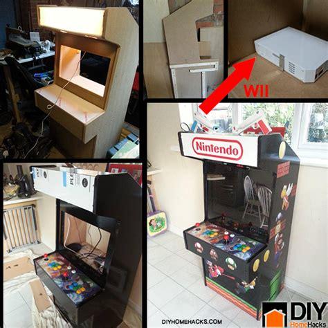diy nintendo wii arcade machine diy home hacks gamers