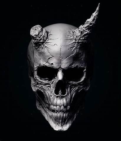 Skull Oni Mask Tattoo Samurai Calaveras Wallpapers
