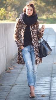 Leopard Print Coat with Scarf