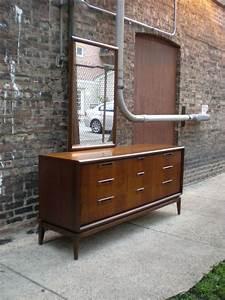 Mid, Century, Chicago, Danish, Modern, 9, Drawer, Lowboy, Dresser