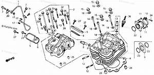 Honda Atv 1986 Oem Parts Diagram For Cylinder Head