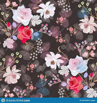 Flowers Spring Butterflies Pattern Seamless Flying Fabric