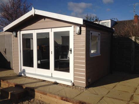 summerhouse  bi fold doors  wooden workshop