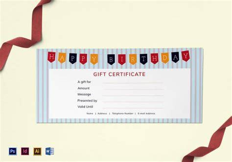 birthday certificate templates psd eps  design