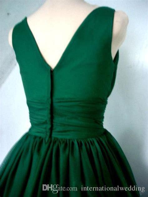 emerald green  cocktail dress vintage tea length