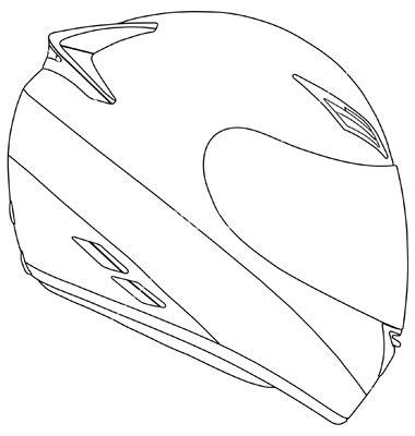 dirt bike helmet drawing  getdrawingscom