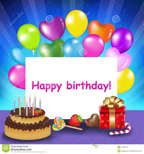 Free Birthday Card Picture by Happy Birthday Card Vector Stock Vector Illustration Of