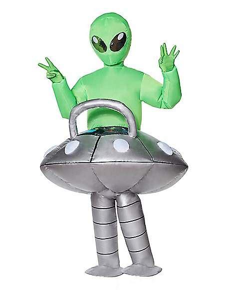 adult light  ufo alien inflatable costume