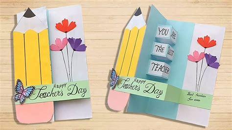 diy teachers day pop  card handmade teachers day card