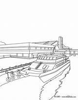 Coloring Pier Colorir Ausmalen Zum Desenho Boot Desenhos Barcos Hellokids Barco Ausmalbilder Cais Boat Um Zeichnen Ausdrucken Imagem Imprimir Mar sketch template