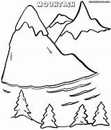 Mountain Coloring Pages Print Nature Colorings sketch template