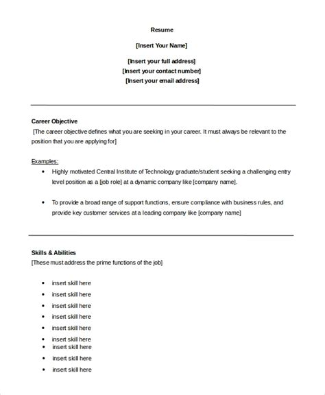 Objective For Customer Service Resume by Career Objective For Customer Service In Resume