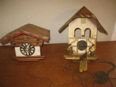 2 Vintage Regula Cuckoo Clock Made In Germany And West Germany For Parts Packer City Antiques Green Bay Wi Antique Gold Cross Pendant Steamer Deck Chairs Old Bird Houses Convex Mirror Australia Seed Pearl Rings Metal Stool With Back Garage Tribeca Menu