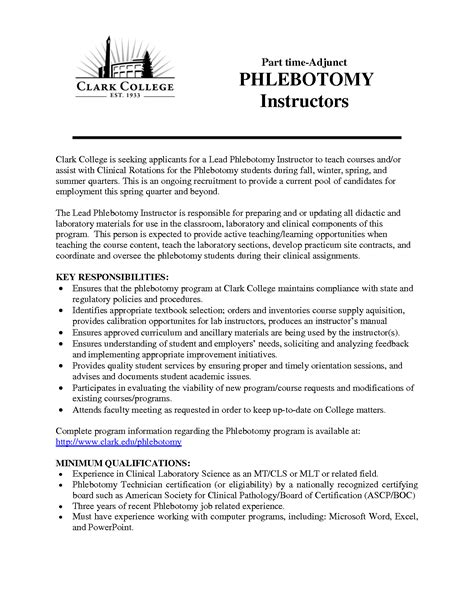 sle phlebotomy resume no experience resume for entry