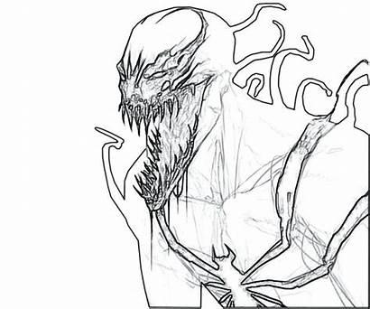 Venom Coloring Anti Pages Spiderman Chibi Drawing