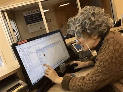 Computer Woman Confused