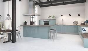cuisine couleur pastel bleu clair ou vert clair blog With idee deco cuisine avec matelas d eau