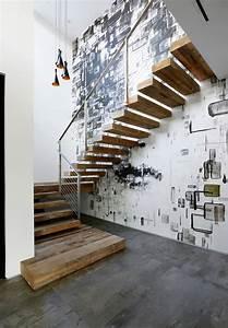 Papier Peint Style Industriel : idee deco montee escalier excellent gallery of bien idee ~ Dailycaller-alerts.com Idées de Décoration