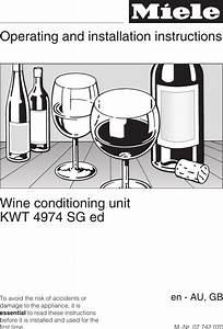 Miele Kwt 4974 Sg Ed Kwt4974sged Gb Vp User Manual To The