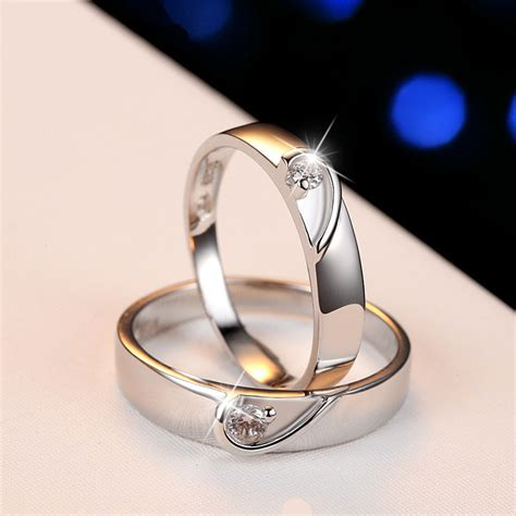 two half hearts puzzle promise rings for and 925 sterling silver engagement