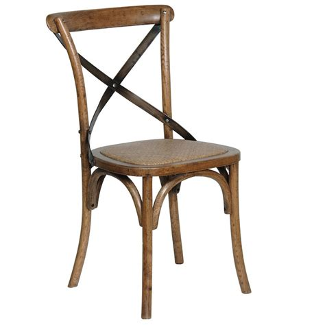 metal cross back side chair telegraph contract furniture