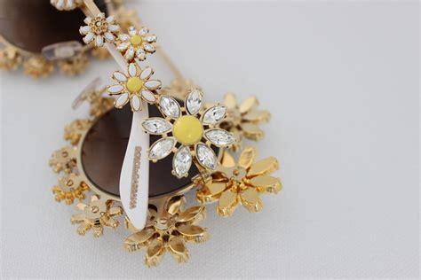 dolce gabbana margherite daisy crystal sunglasses
