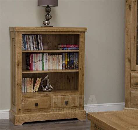 Office Bookcase by Grandeur Solid Oak Furniture Small Living Room Office