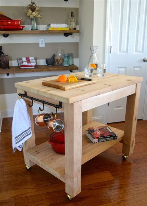 cedar kitchen island shanty  chic