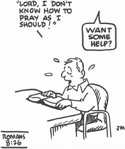 Romans 26 Spirit Pray Cartoons Ought Help