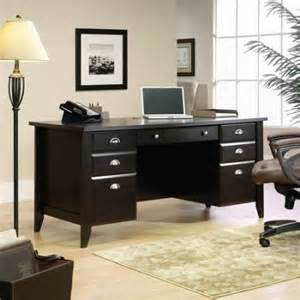 sauder shoal creek executive desk jamocha wood walmart
