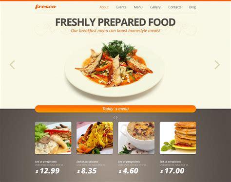 cuisine site fast food website template free gallery templates design