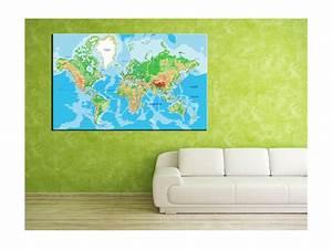 Carte Du Monde Deco : tableau d co carte du monde d coration murale originale ~ Teatrodelosmanantiales.com Idées de Décoration
