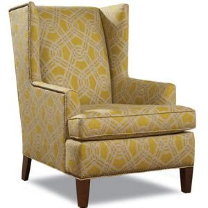 huntington house 7406 contemporary wing chair with tapered